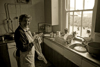 Joyce washing up