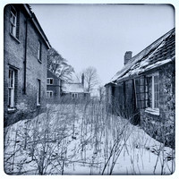 Deserted Farm Cottages in the Snow