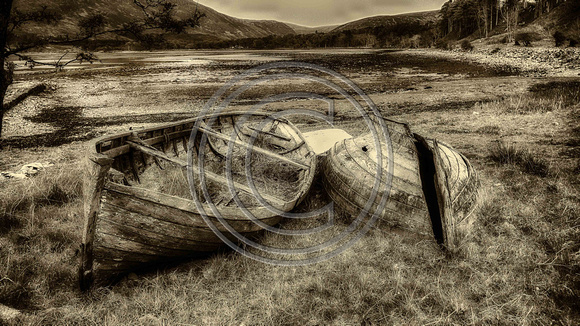 Old Boats at Applecross.Scotland 2016