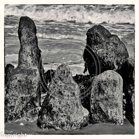 ROCKS ON THE BEACH AT SHERINGHAM